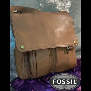 Fossil Morgan Top Zip Leather Crossbody